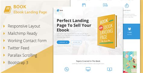html ebook template 35 best html responsive landing page templates 2014
