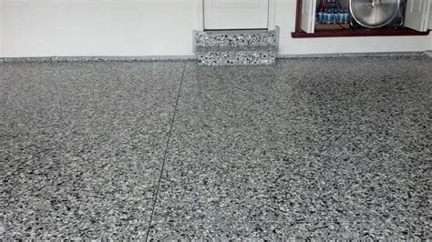 Garage Floor Paint With Flecks Epoxy Garage Floor With Large And Small Flake Shed