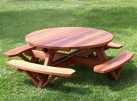 round picnic bench round picnic table plans shelby knox