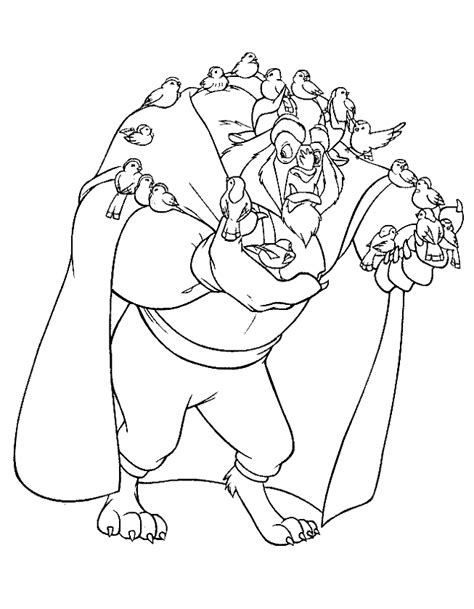 free coloring pages of belle and the beast