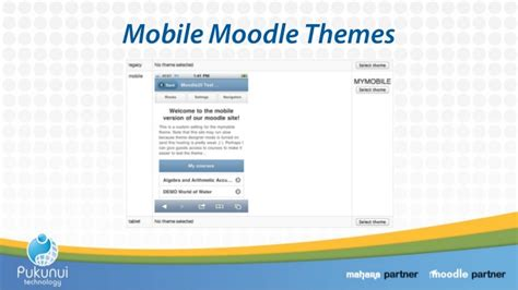 moodle themes for mobile moodle for mobiles