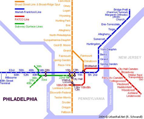 philadelphia subway map filadelfia mapa turistico