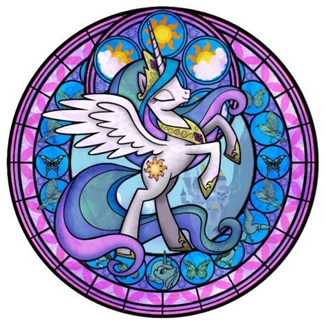 mlp nightmare moon stained glass my little pony alicorn images princess celestia stained
