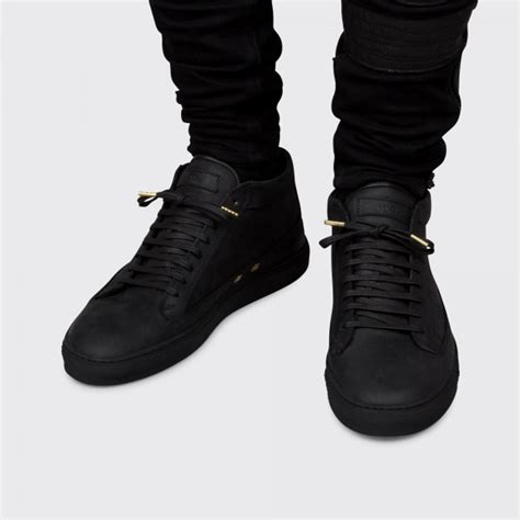 all black sneaker etq mid top all black sneakers hispotion