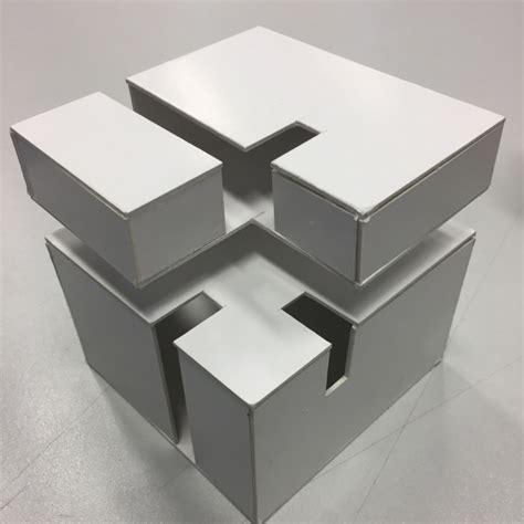 experiment design cube cube architecture concept model arts interior