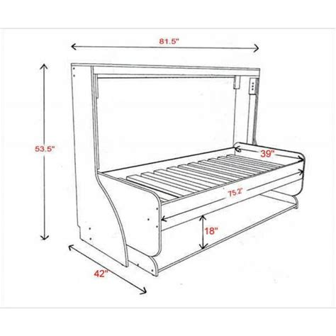 width of single bed hiddenbed single bed dimensions diy home pinterest