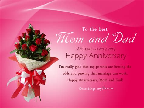 Wedding Anniversary Wishes by Wedding Anniversary Wishes For Parents Www Pixshark