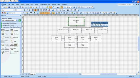 org chart template visio visio organisation chart for top design wmv