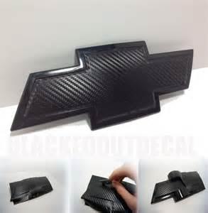 2 carbon fiber chevy bowtie vinyl overlay sheets emblem