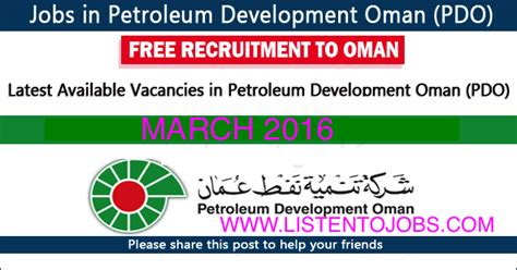 Mba In Petroleum Management In Usa by Vacancies In Petroleum Development Oman