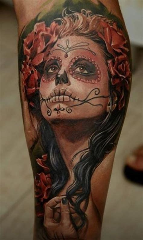 santa muerte tattoos watercolor santa muerte on leg tattoos book