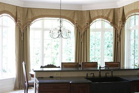 bay window curtain ideas bay window curtain treatment ideas a creative mom