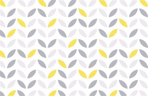 Wallpaper For Dining Rooms by Yellow And Grey Abstract Flower Pattern Wallpaper Murals