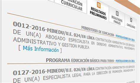 conviocatoria minedu 2016 conviocatoria minedu 2016 new style for 2016 2017