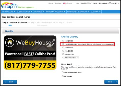 vistaprint phone number car magnets bumper stickers we buy houses marketing portal
