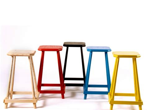 Ash Colored Stool by Solid Ash Stool Gustave By Adentro