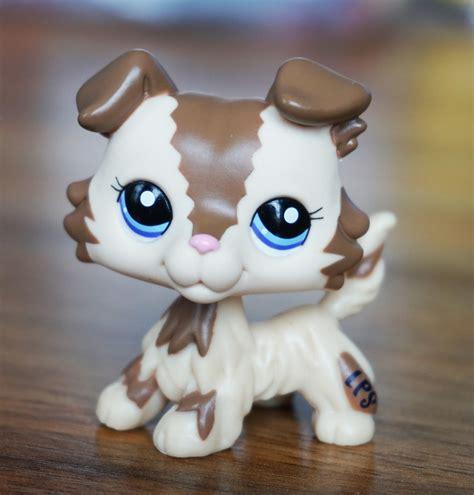ebay dogs brown collie littlest pet shop lps 2210