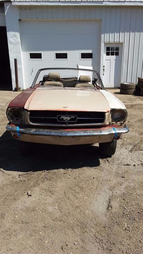 1965 mustang convertible project for sale no drivetrain 1965 ford mustang convertible project for sale