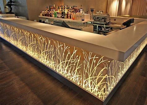 Restaurant Countertops by Bar Salon Restaurant Corian Acrylic Solid Surface Lighted