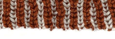 two color brioche stitch two color italian cast on brioche stitch