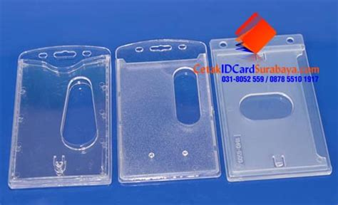 Casing Id Card Card Holder Bolak Balik card holder 2 in 1 bolak balik cetak id card surabaya