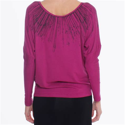 56180 Naffa Top Blouse wool stretch t shirt pink designer tops for de pedro