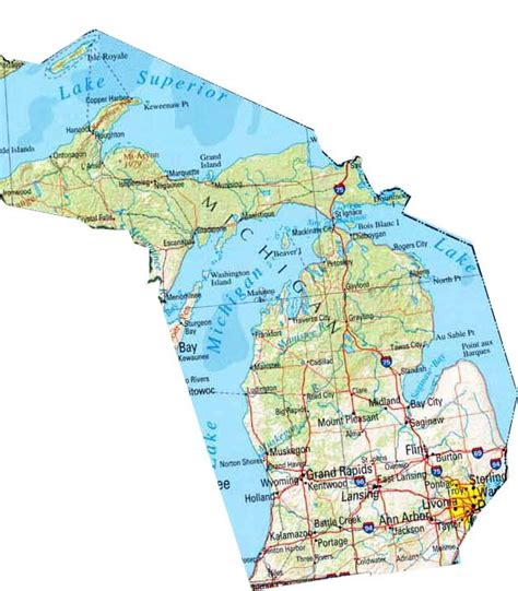 mi map map of michigan michigan maps mapsof net