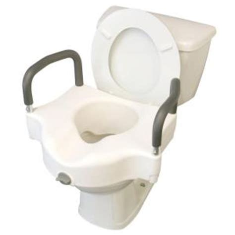 medline adjustable elevated toilet seat mds80316h the