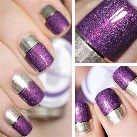 Lovely Easy Nail Art Designs Step By Step #5: Glitter-Colorblock.jpg