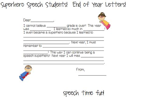 End Of School Year Speech Sles speech students student end of year letters