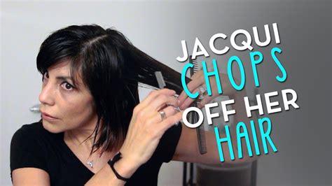 Choppy Bob 2014 by Jacqui Davis (From long to short hair
