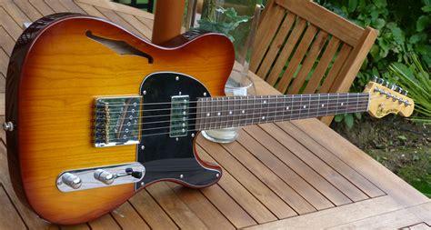 G L Tribute Asat Classic Bluesboy Semi Hollow Clear Orange Maple Neck photo g l tribute asat classic bluesboy semi hollow g l