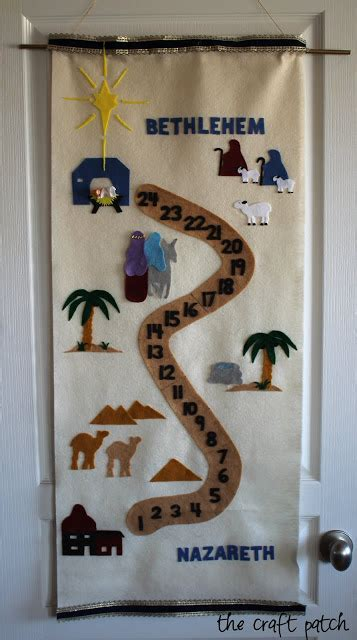 pattern for felt nativity advent calendar the craft patch nativity advent calendar pattern and tutorial