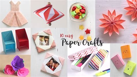 10 easy paper crafts compilation diy craft ideas all the way