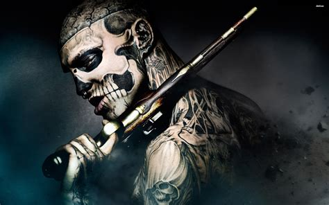 zombie tattoo gun rick genest wallpaper