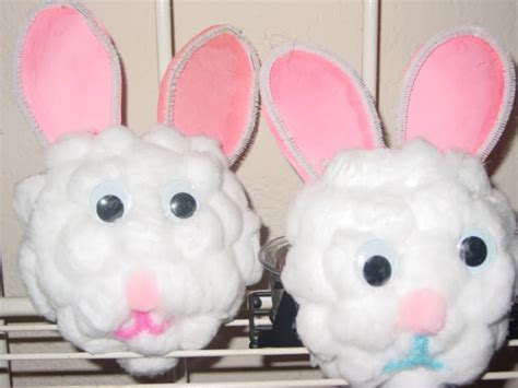 craft balls preschool crafts for easter bunny cotton craft