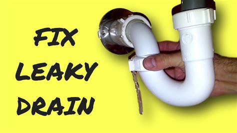 how to fix leak under bathroom sink repair leaky sink drain pipe youtube