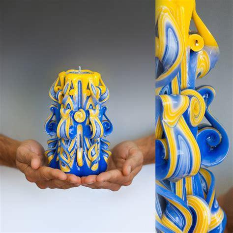 dekorative kerzen handgemachte geschnitzte kerzen burikov