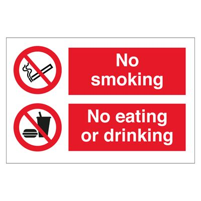 lalizas imo signs eating drinking area no smoking no eating or drinking