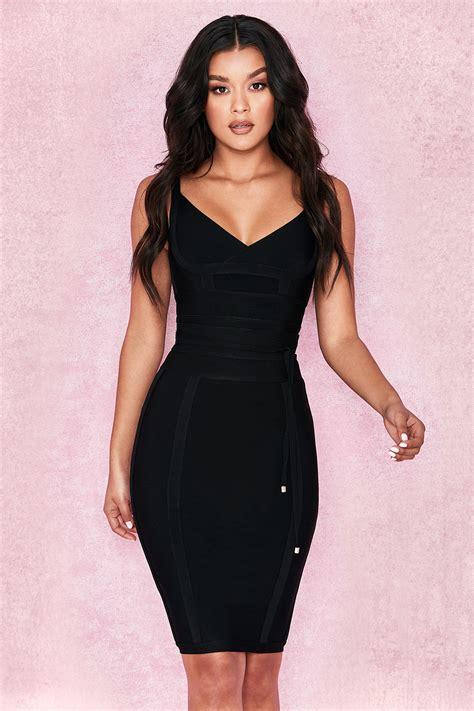 Tie Waist Dress clothing bandage dresses belice black tie waist