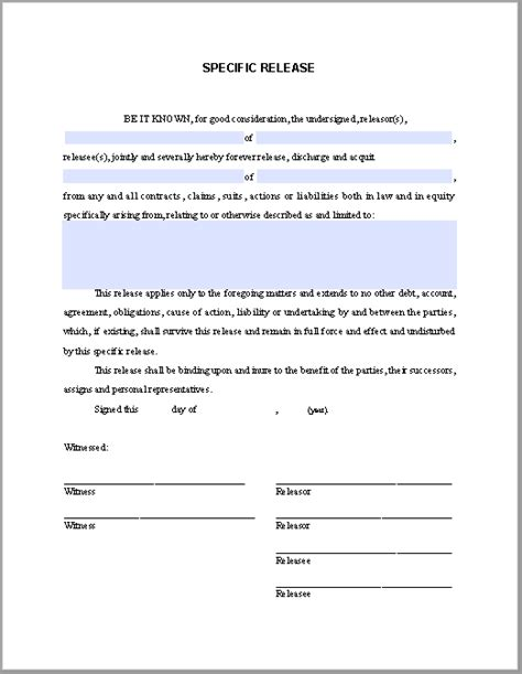 Special Release Affidavit Free Fillable Pdf Forms Free Fillable Pdf Forms Manufacturer S Affidavit Template Fillable