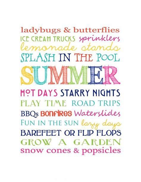 printable summer quotes fantastic and fun free printable summer subway art
