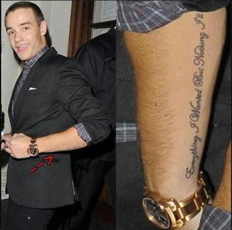 tattoo de liam payne liam payne tattoos