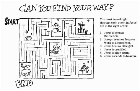free printable christian jigsaw puzzles religious mazes printables sunday school pinterest