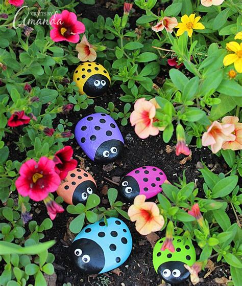 outdoor paint for adults ladybug painted rocks recipe outdoor paint ladybug