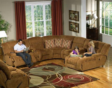 camel fabric enterprise pc reclining sectional sofa woptions