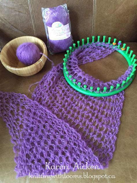 knifty knitter patterns scarf round loom knitting with looms smaller pagosa springs scarf wip