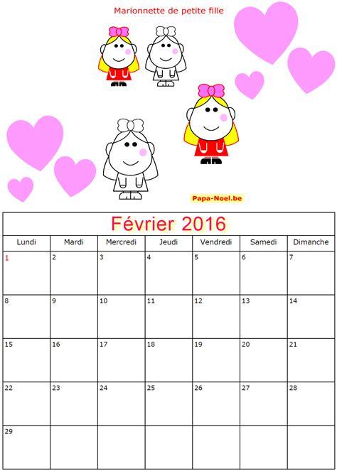 Calendrier Février 2017 Vacances Scolaires Calendrier 2016 A Imprimer
