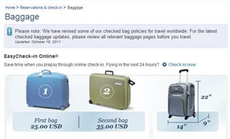 united airlines baggage requirements us rejects delay request from global airlines on bag fee transparency tnooz