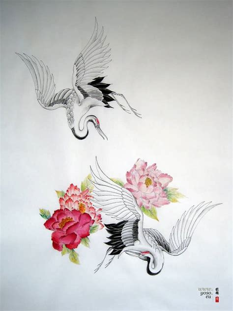 japanese crane tattoo designs japanese crane on chest